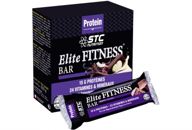 barre proteinee stc nutrition elite fitness bar 5 barres de 45 g chocolat