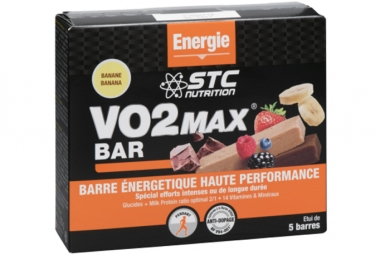Barre energetique stc nutrition vo2 max bar 5 barres de 45 g banane