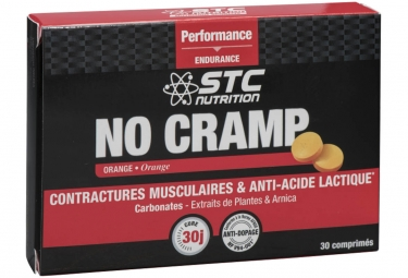 Complément Alimentaire STC Nutrition - NO CRAMP - 30 comprimés à croquer - Orange