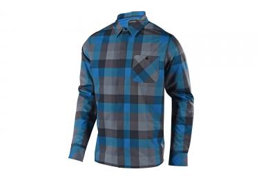 chemise troy lee design grind bleu s