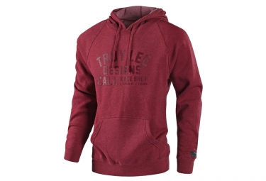 Troy Lee Design Podium Heather Hoodie Red