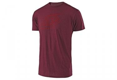 T shirt troy lee designs logo rouge l