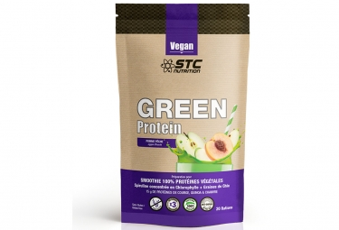 Boisson proteinee stc nutrition green protein smoothie doypack de 500g pomme peche