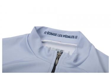 Maillot Manches Courtes LeBram Lautaret Bleu Ciel Coupe Droite