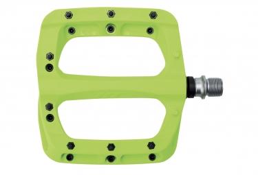 Paire de Pédales Nylon HT Components PA03A Vert