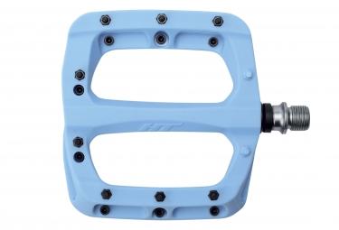 Paire de pedales nylon ht components pa03a bleu ciel