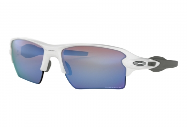 Lunettes oackley flak 2 0 xl blanc prizm deep water polarized oo9188 8259