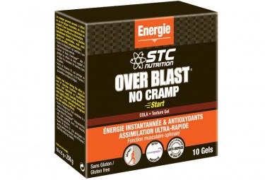 STC Nutrition - Over Blast NO CRAMP START - 10 cialde - Lemon Cola Gel