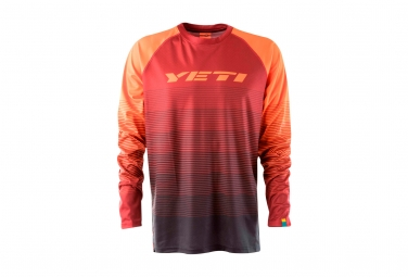 Maillot manches longues yeti alder rouge s