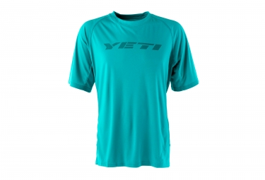 Maillot manches courtes yeti tolland turquoise s