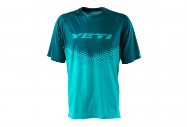 maillot manches courtes yeti alder turquoise s