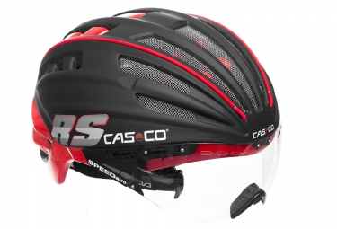 casco casque speedairo rs avec visiere vautron noir mat rouge m 54 58 cm
