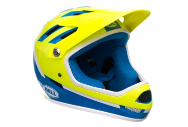 Casque integral bell sanction bleu jaune xs 51 53 cm