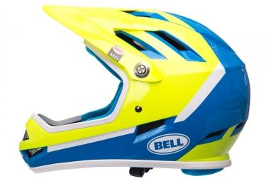 Casque Intégral Bell SANCTION Bleu Jaune