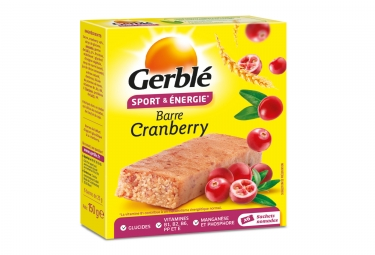 Gerbl Energy Barre Sport Cranberries (paquete de 6)