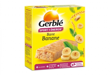 Gerbl Energy Barre Sport Banane (paquete de 6)