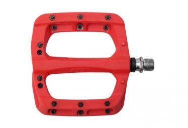 Paire de Pédales Nylon HT Components PA03A Rouge