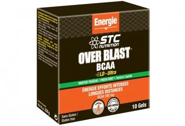 Gel energetico STC Nutrition Over Blast BCAA LD-Ultra 10x25g menta