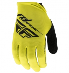 Paire de gants longs fly racing media jaune noir s