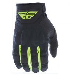 Paire de gants longs fly racing patrol noir jaune fluo s