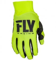 Paire de gants longs enfant fly racing pro lite jaune fluo l
