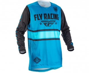 Maillot manches longues enfant fly racing kinetic era bleu kid s