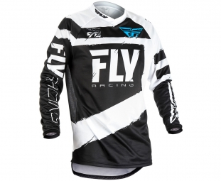 Maillot manches longues enfant fly racing f 16 blanc noir l