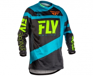 Maillot manches longues fly racing f 16 bleu noir s