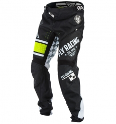 Pantalon FLY Racing Kinetic Era Bicycle Noir/Blanc