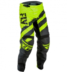 Pantalon fly racing f 16 noir jaune fluo 30