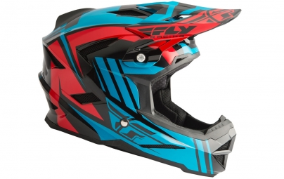 Casque integral fly racing default turquoise rouge l 59 60 cm