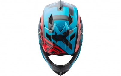 Casque intégral FLY Racing Default Turquoise/Rouge