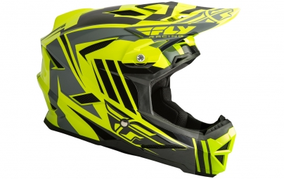 Casque integral fly racing default jaune fluo noir l 59 60 cm