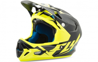 Casque integral fly racing werx ultra noir jaune fluo s 55 56 cm