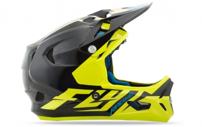 Casco Integral Fly Racing Werx Noir / Jaune / Fluo