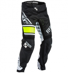pantalon enfant fly racing kinetic era bicycle noir blanc 26