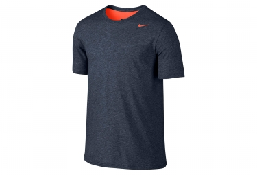 Maillot manches courtes nike dry training homme bleu s