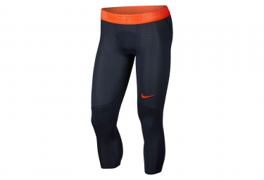 Collant 3 4 nike pro hypercool bleu orange homme s