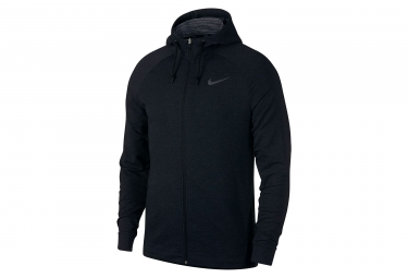 Sweat a capuche nike dry training noir homme m