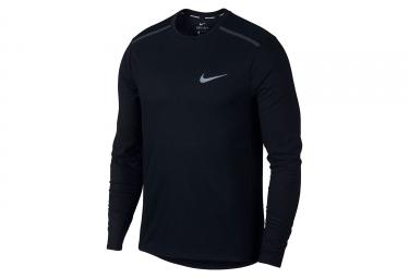 Maillot Manches Longues Nike Breathe Rise 365 Noir Blanc Homme