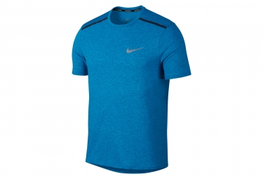 Maillot Manches Courtes Nike Breathe Rise 365 Bleu Homme