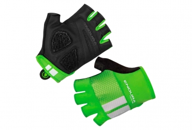 Paire de gants courts endura fs260 pro aerogel vert fluo s