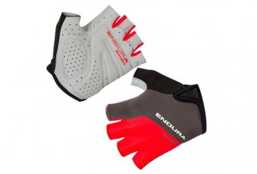 Paire de gants courts endura hyperon ii rouge s