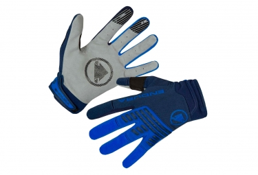Paire de Gants Longs Endura SingleTrack Bleu