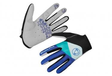 Paire de gants longs femme endura hummvee lite bleu cobalt xs