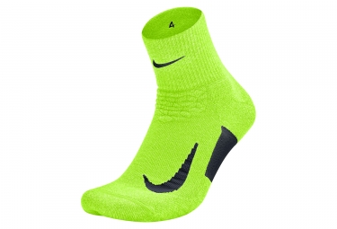 Nike su18 socks elite cushion jaune noir unisex t 38 5 40 5