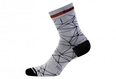 Paire de chaussettes nalini tuono blanc 44 45