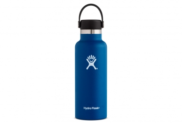 Gourde hydro flask standard mouth 532 ml bleu fonce