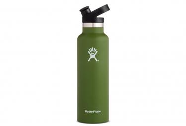 Gourde hydro flask standard mouth sport cap 621ml olive vert