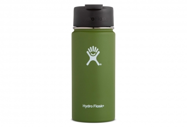 Image of Gourde hydro flask wide mouth flid lid 473ml olive vert